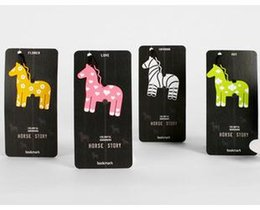 Wholesale 20PCS Styles Colorful Bookmarks for Books Horse Story Metal Book Mark