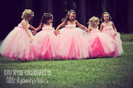 Wholesale Best Match Baby Girls Childrens Kids Dancing Tulle Tutu Dress Flower Girl Dresses Fancy Photography Costume