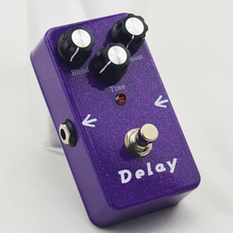 Wholesale 2016 NEW TT Electric Guitar Audio True Bypass Analog Delay Drive Effect Pedal Purple flash Delay BRAND NEW CONDITION