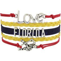 Custom-Infinity Love National Hockey League Florida Panthers Bracelet Hockey Team Fans Bracelet Adjustable Bracelet Bangles-Drop Shipping