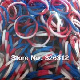 Promotion caoutchouc pression 600pcs gros / Sac + 0416dd Bracelet travail RJ1359 bricolage 25 x S-Clip trois couleurs Loom Band Refill Sac tressés tissé des bandes élastiques en caoutchouc