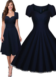 Free shipping Women's Vintage Style Retro 1940s Shirtwaist Flared Evening Tea Dress Swing Skaters Ball Gown 3230