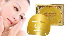 Wholesale 2016 Gold Bio collagen Facial Mask g Crystal Collagen Gold Powder Facial Mask Gel Hylauronic Acid K