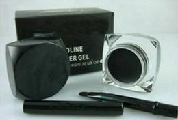 New eyeliner ,Makeup NEW Black Eyeliner Waterproof Gel Liner 1PCS+Free brush