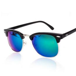 Descuento espejo de cristal clásico Adiglass marca clásica La mitad de las gafas de sol del metal de los hombres de las mujeres las gafas de espejo Gafas de sol de la manera Gafas Gafas de Sol UV400