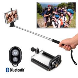 2017 contrôleur bluetooth pour monopode 2016 tout nouveau Bluetooth Selfie Stick Wireless selfie Monopod bâton Photographie Bluetooth Shutter caméra télécommande pour iPhone / Samsung abordable contrôleur bluetooth pour monopode