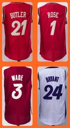 Wholesale Men s Jimmy Butler Derrick Rose Dwayne Wade Kobe Bryant Christmas Edition jerseys Top Quality Drop Shipping Sh