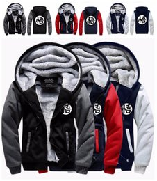 Wholesale Anime Dragon Ball Goku Cosplay Jacket Sweatshirts Thicken Hoodie Zipper Coat Size M L XL XL XL XL XL