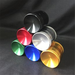 Wholesale New Concave Grinders Metal Grinders Pieces Tabacco Grinder With Concave Surface mm mm mm Made Of Zinc Alloy