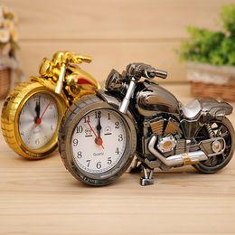 Wholesale Motorcycle Desk Clock Modern Fashion Quartz Alarm Clock Home Decoration Gifts Cool Retro Deisgn for Boys
