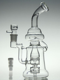 """bong !glass recycler toro glass art 10""""glass bong oil rig diamond glass pipe with Ceramic nail and bowl 18.8mm joint"""
