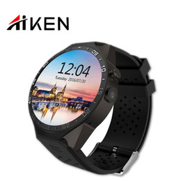 Wholesale KW88 phone Bluetooth Android Smartwatch MT6580 Quad Core G WCDMA Heart Rate Monitor MP Camera GPS Map WiFi Google Cell Smart watch