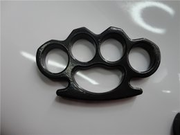 Wholesale GILDED THICK STEEL BRASS KNUCKLE DUSTER knuckle duster brass knuckle clutch knuckle knives self defense tool