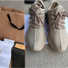 Wholesale double box Best boost Sneakers Training Shoes Kanye west Oxford Tan Top Quality Keychain Socks Bag Receipt Boxes