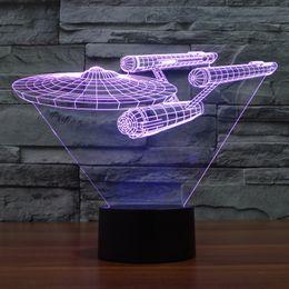Wholesale D Design Bulbing Lamp Star Trek Iron Man Star Ship USS Enterprise NCC Color Changing LED Desk Lamp