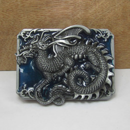 BuckleHome Dragon belt buckle animal belt buckle fashion belt buckle with pewter plating FP-02430-1 free shipping