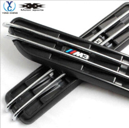 Wholesale 2x Black Decorative Front Fender Side Vent Grills Self Adhesive Air Flow Exterior For All BMW M E46 E90 Series