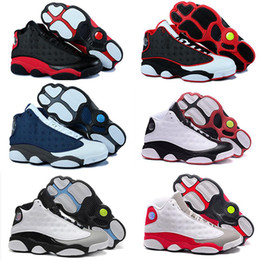 Wholesale 2016 air Retro cement grey toes Men Basketball Shoes Retro XIII bred flints grey toe He Got Game hologram barons Sports sneakers