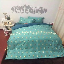 Wholesale DY ZM Jack a Lent Picture Green Color Cotton Home Bedding Sets For Adult And Young Personal Bedding