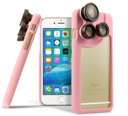 Wholesale Fisheye Wide Angle Micro Lens Case Fashion Degrees Fisheye Lens For iPhone S Plus With Retail Package