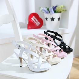 cross pu leather high heels slip on stiletto sandals for women