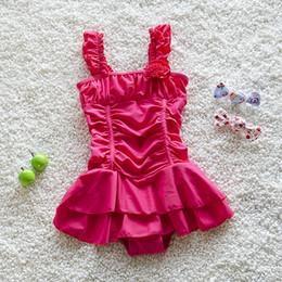 Pequeñas faldas de los niños en Línea-2016 Nuevo traje de baño de los niños que vienen Traje de baño de una sola pieza tradicional del estilo de la falda del traje de baño de los bebés para la pequeña princesa