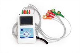Wholesale TLC9803 Dynamic ECG Systems Electrocardiograph Systems Holter DCG OLED COLOR DISPLAY HOLTER CHANNEL RECORDER