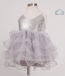 2016 Baby Girls Tulle Lace Party Dresses Kids Girl Sequined V-neck Ruffle Dress Girl Summer Princess tutu Dress Babies Clothes