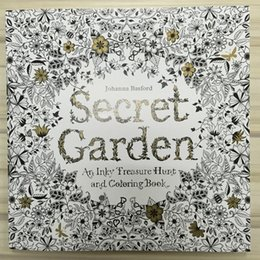 Wholesale 96 Pages x25cm Coloring Books English Edition Secret Garden Adult Graffiti Painting Drawing Book Kill Time And Stress Relieve Tool