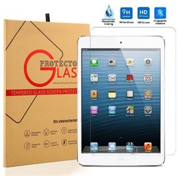 Wholesale For ipad pro mini H MM Tempered Glass Screen Protector Film Explosion Proof Screen Guard with boxes for ipad air pro Best