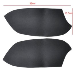 Wholesale DIY Car Decoration Cut pair New Black Rear Door Panels Armrest Skin Covers Leather For Honda Accord