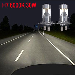 Wholesale 2016 new High Power W H7 CREE XB D LED Car Fog Head Driving Daytime Running Light Bulbs the Best Quality lamp