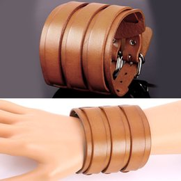 U7 Soft Genuine Leather Bracelets High Quality Fashion Unisex Jewelry Accessories Perfect Gifts Resizable Leather Bracelets for Women Men