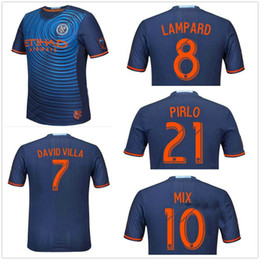 Wholesale top Thai Quality New York City soccer jersey New York City FC DAVID VILLA LAMP ARD PIRLO IRAOLA POKU shirt