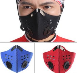 Wholesale 2016 Outdoor Riding Masks Cycling Activated Carbon Masks Windproof Tactical Mask Filter Air PollutantOutdoor Sports Masks