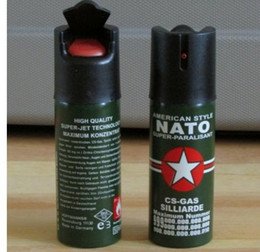 Wholesale 2 NATO CS GAS ML TEAR GAS PEPPER SPRAY NEW Ms self defense equipment