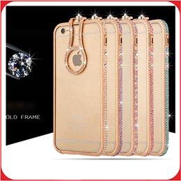 Wholesale Diamond Crystal Aluminium Frame Bumper Case Cover Phone Accessories For Iphone Plus S S plus