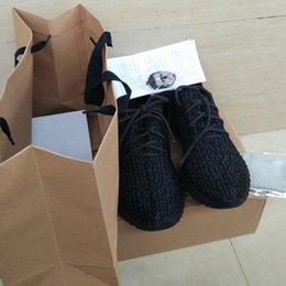 Wholesale Keychain Socks Bag Receipt Boxes Best Quality Shoes Boost Shoes Oxford Tan Kanye Milan West Boost Size US13