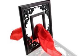 Silk Thru Mirror -- magic tricks