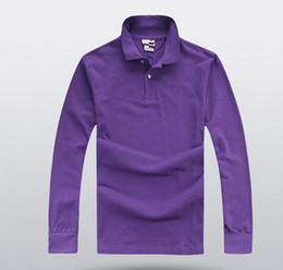 Wholesale Top sales Golf men Polo shirts Spring business men long sleeve cotton embroidery Polos Custom made long Dress shirts
