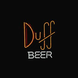 SIMPSONS DUFF BEER STORE BAR REAL Real Glass Neon Light Sign Home Beer Bar Pub Recreation Room Game Room Windows Garage Wall Sign