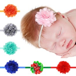 Baby Headbands Mini Chiffon Flower Headbands Thin Elastic Bands Toddler Girls Headbands Newborn Headbands Hair Band 20pcs