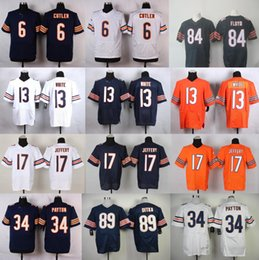 Wholesale 2016 Discount Football Jerseys Brian Urlacher Kyle Long Walter Payton Hroniss Grasu wihie blue Elite Cheap embroidery Mix Order