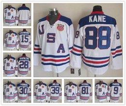 Wholesale 2010 Team USA Ice Hockey Jersey OLYMPIC Zach Parise Patrick Kane Phil Kessel Brian Rafalski Ryan Miller Jamie Langenbrunner Tim Thomas White