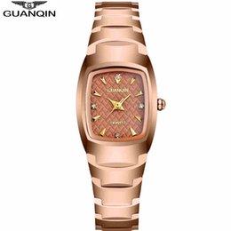 Relojes Mujer 2016 Tungsteno GUANQIN relojes de las mujeres de acero de lujo del reloj del cuarzo de las mujeres del verano del estilo reloj de pulsera impermeable de las señoras desde mujer del estilo de reloj resistente al agua fabricantes