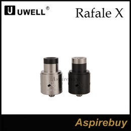 Wholesale Uwell Rafale X RDA Tank mm Neutral Post System Active Two Post Design Anti Spit Back Drip Tip Variable Airflow Brass Pin Original