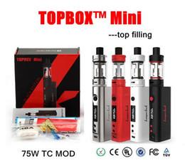 Wholesale Kanger topbox mini Starter Kit w ml Top Filling Sub Ohm Tank Temp Control Kit clone vs subox mini kit topbox nano
