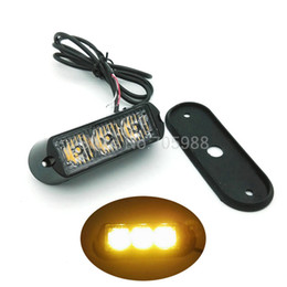 2pcs * 3 led 12V 24V Car Truck Flash fog light, Emergency Warning Light Bulb High Power auto lamp strobe lights