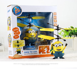 Wholesale Minions Aircraft Despicable Me Flying Ball Avengers RC Helicopter Kids Induction Motor Childrens Day Gift Boys Toy Present Remote Control