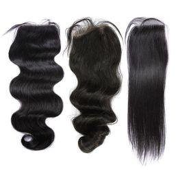 Top Lace Closure Brazilian Human Hair Full Lace Closures(4*4) Body,Loose,Straight With Original Virgin Human Hair Free Shipping